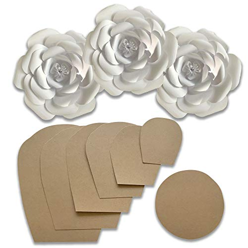 Paper Flower Template Kit - Make Your Own Paper Flowers - Paper Flowers Decoration - Make Unlimited Flowers - DIY Do It Yourself - Make All Sizes (Rose)