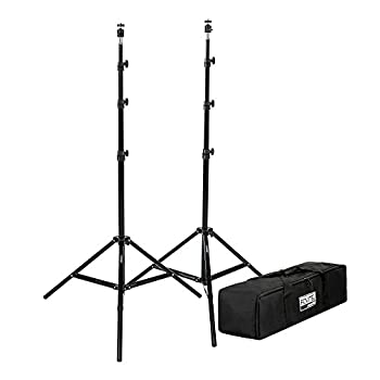 Fovitec 2 - 7 6  Tripod Stands for HTC VR/Vive Mount Base Stations - Includes Articulating Ball Heads and Carrying Bag