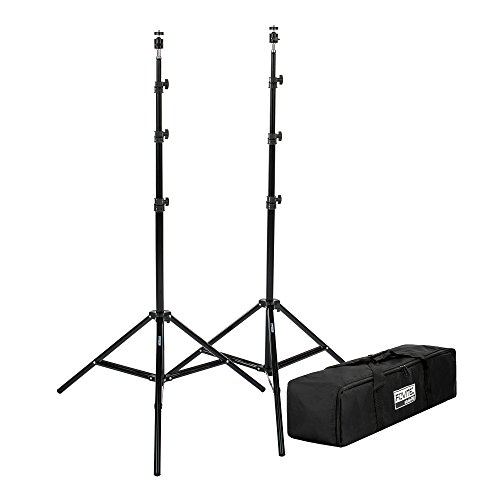 Fovitec 2 - 76 Tripod Stands for HTC VR/Vive Mount Base Stations - Includes Articulating Ball Heads and Carrying Bag
