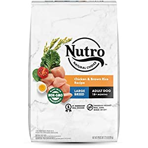 NUTRO Natural Choice Large Breed Adult Dry Dog Food, Chicken & Brown Rice Recipe Dog Kibble, 22 lb. Bag