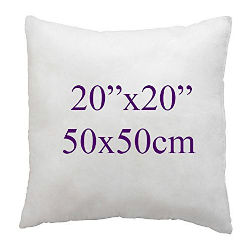 Extra Soft White Duck Feather & Down Cushion Pads,Inners, Inserts, Fillers,100% Cotton Down Proof Cover, Anti Allergenic, Machine Washable, Double Stitched Seams,16' 18' 20' 22' (20x20', Pack of 1)