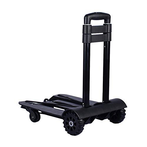 Shopping Cart Trolley, Full Folding Luggage Car Folding Flatbed Luggage Easy To Carry Trolley Suitcase Schoolbags Shopping Carts Can Hold 45 Kg Telescopic Rod