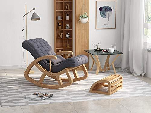 WANGYG Mecedoras de salón Mecedora de Madera Maciza, sillón, sillón reclinable de Madera Maciza...