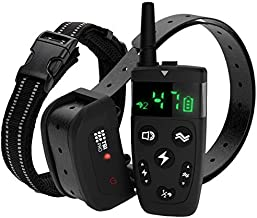 TBI Pro Shock Collar for Dogs with Remote - Dog Training Collars Range 1800 feet, Vibration, Beep, Separate Buttons - Rechargeable Collar - IPX7 Waterproof for Small, Medium, Large Dogs, All Breeds
