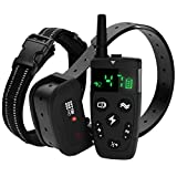 [Upgraded 2020] Dog Training Collar with Remote - Shock Collar for Dogs Range 1600 feet, Vibration Control, Rechargeable Bark E-Collar - IPX7 Waterproof for Small, Medium, Large Dogs, All Breeds