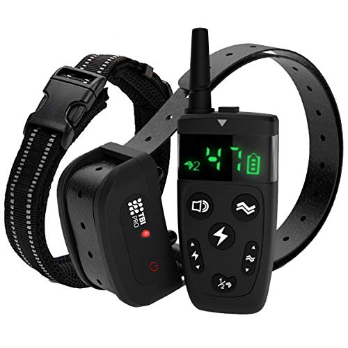TBI Pro Dog Training Collar with Remote - Shock Collar for Dogs Range 1600 feet,...