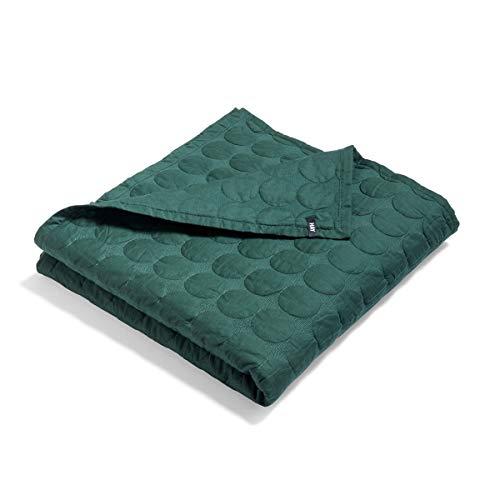 Mega Dot Decke 195x245cm, dunkelgrün Baumwolle Füllung Polyester LxB 245x195cm