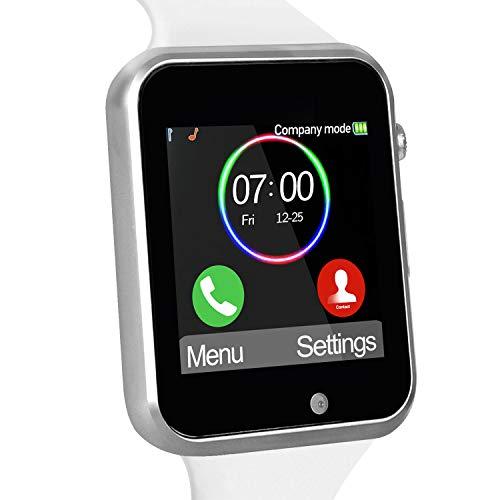 Funntech - Reloj Inteligente para niños con podómetro, Bluetooth Desbloqueado 2G gsm teléfono Llamada 1.54 Pulgadas cámara de Pantalla táctil