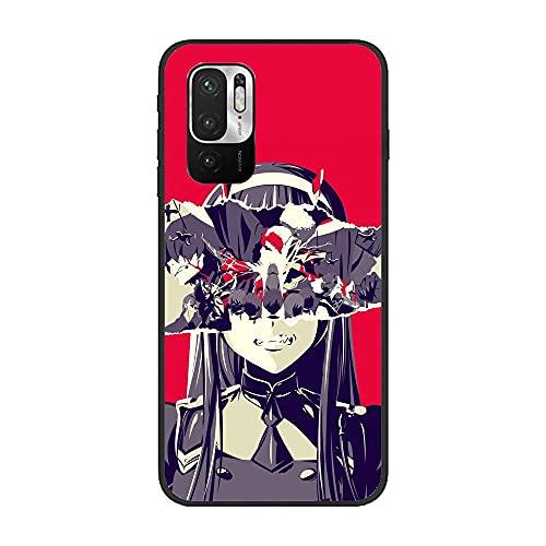 SweetST Carcasa para Xiaomi Redmi Note 10 5G/POCO M3 Pro-Zero Two Darling in the-Franxx Anime 2 - Carcasa ultrafina para XIAOMI Redmi Note 10 5G/POCO M3 Pro-Zero Two Darling in the-Franxx Anime 2