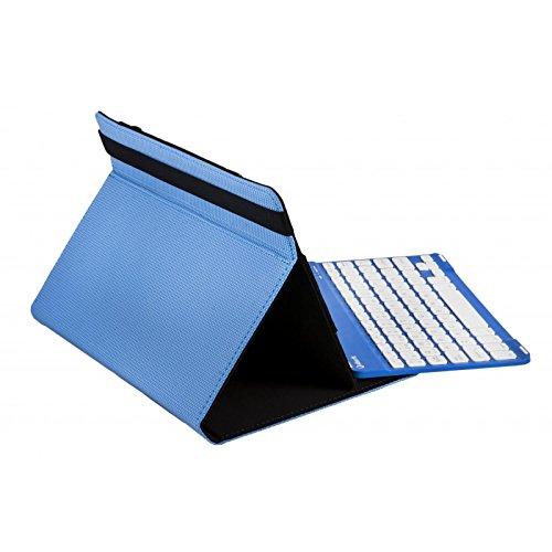 SilverHT 19142 Toetsenbord voor mobiele QWERTY Zwart, Blauw, Wit Bluetooth - Toetsen voor mobiele apparaten (DDR4-Universeel, Zwart, Blauw, Wit, 25,6 cm (10.1 inch), Bluetooth, 55 h)