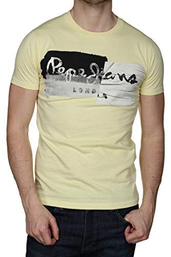 Pepe Jeans Stepney Camiseta, Amarillo (Yoke 085), Small para Hombre