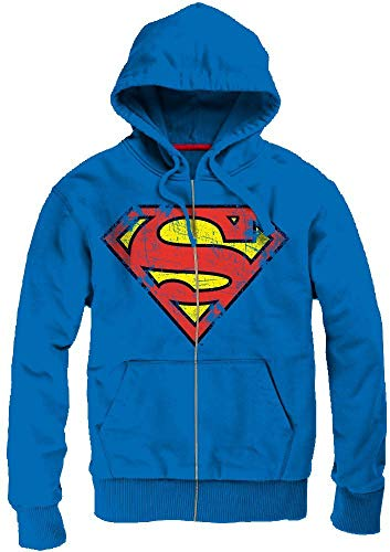 Superman - Cracked Logo Homme Sweat capuche - Blue - Taille X-Large