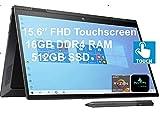 2021 Newest HP Envy x360 2-in-1 Convertible Laptop, 15.6' FHD Touchscreen, AMD 8-Core Ryzen 7 4700U (Beat i7-10510U), 16GB RAM, 512GB SSD, Backlit Keyboard, WiFi 6, Windows 10 Home+AllyFlex Stylus Pen