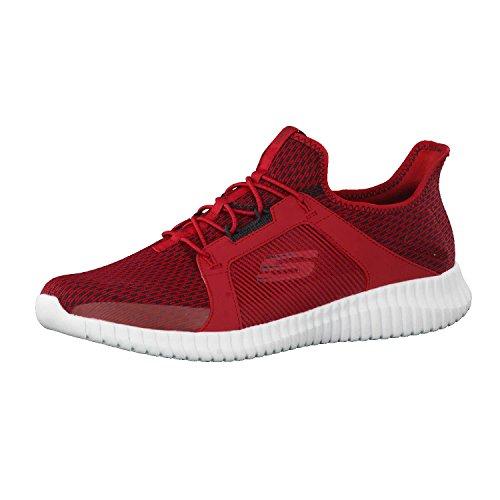 "Herren-Sneaker \""Elite Flex\"" von Skechers, Rot (rot / schwarz), 43 EU"
