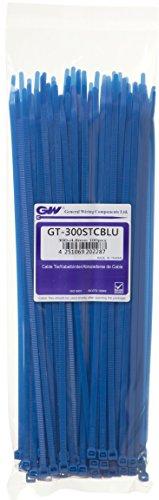 GW Kabelbinder-Technik, Kabelbinder 300 x 4,8 mm, blau, 100 Stück, GT-300STCBLU
