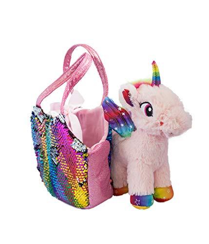 Joy Toy 52272 - Unicornio de Peluche (20 cm, en Bolsa de Len
