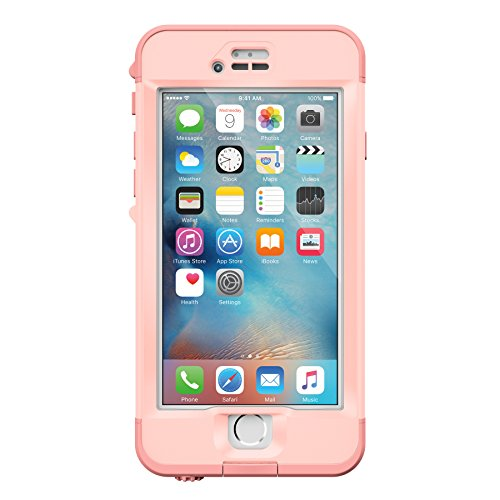 Lifeproof NÜÜD SERIES iPhone 6s Plus ONLY Waterproof Case - Retail Packaging - FIRST LIGHT (PINK JELLYFISH/CLEAR/SEASHELLS PINK)