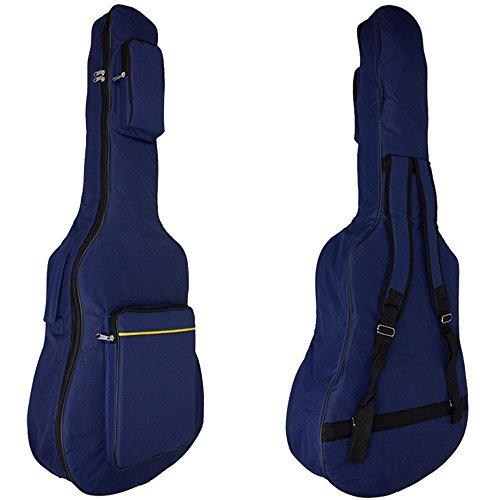 MINGZE 41 Zoll Gitarrentasche,Gitarren Gig Taschen,Plus Baumwolle dicke wasserdichte verstellbare Schultergurt Gitarre Rucksack, eine Vielzahl von Farben (Blau)