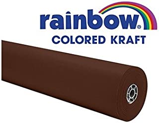 "Colors of Rainbow 0066021 Kraft Paper Roll, 40 lb, 36"" x 100', Brown Duo-Finish"