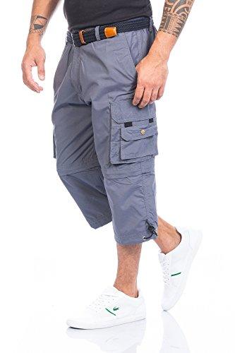 Fashion Herren Shorts Kurze Hose mit Dehnbund ID388, Größe:XL;Farbe:Dunkelgrau