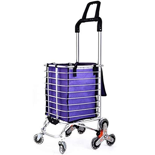 Pkfinrd - Barras plegables para equipaje de coche, 8 ruedas, color morado