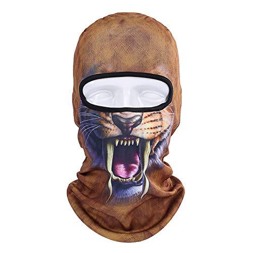 Balaclava Cagoule Mode Anti-Poussière Couvre-Chef Animal Chat Chien Lion Tigre Motif Hommes Femmes Complet Cagoule Couverture Cou Écharpe Chapeaux-Bbb-3-
