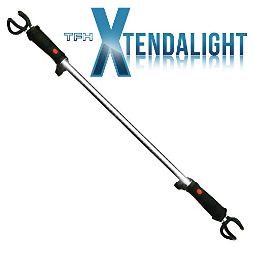 Xtendalight - Extendable Magnetic Rechargeable LED Super Bright Light, Indoor & Outdoor Use (3-Way Attachment System), Gazebo, Awning, Marquee, Store, Garage, Loft, Shed, Van, Builders Light