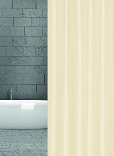 KS Handel 24 Textil Duschvorhang 240x200 cm (Champagner Ecru)