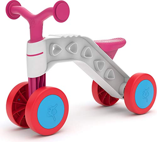 Chillafish Itsibitsi, Stable 4-Wheel First Ride-on for Kids 1-3 Years, with Steering Limiter to Prevent overturning, Lightweight and Easy to Carry, Pink