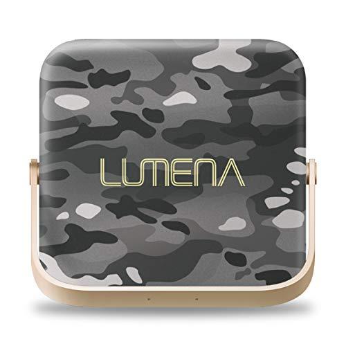 LUMENA7 【迷彩グレイ】 日本正規品&保証書付 ルーメナー カラビナ 専用ポーチ付 LEDランタン モバイルバッテリー コンパクト ライト キャンプ アウトドア
