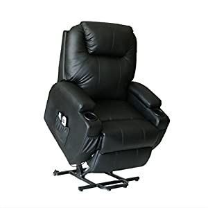 THE PACKAGE OF THIS CHAIR WILL BE SENT OUT VIA 2 BOXES BY UPS OR FEDEX. PLS KEEP THIS CHAIR 45CM FAR FROM WALL. The chair is made of soft and sturdy PU leather,padded with extra thick sponge for back,head and armrest. Electric powered lift mechanism ...