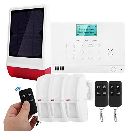 Detector infrarrojo gran angular de doble ángulo inalámbrico, alarma de casa inteligente, sirena(European standard (110-240V))