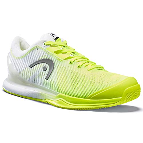 HEAD Sprint Pro 3.0 Clay Men, Zapatillas de Tenis Hombres, Neon Amarillo/Blanco, 42.5 EU