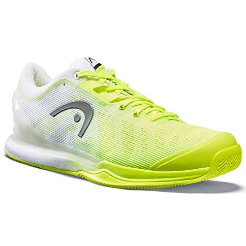 HEAD Sprint Pro 3.0 Clay Men, Zapatillas de Tenis Hombres, Neon Amarillo/Blanco,...