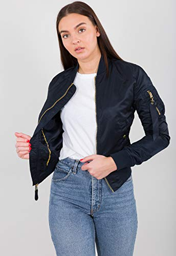 ALPHA INDUSTRIES MA-1 VF LW Wmn rep.Blue/Gold