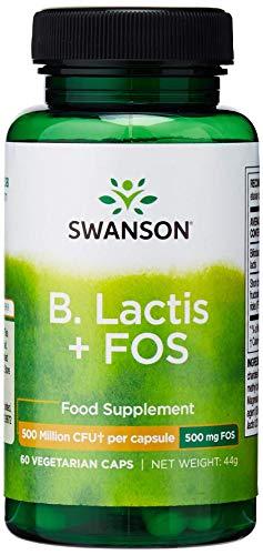 Swanson B Lactis + FOS, 1 Billion CFU, 60 Vegetarian Capsules