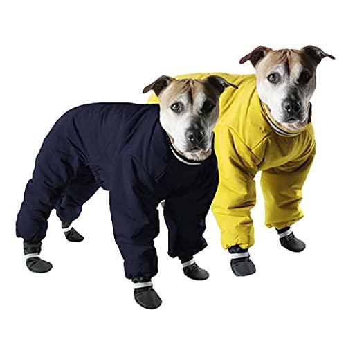 Big Sale Muttluks 4-Legged Nylon Reversible Dog Snow Suit, Size 14, Yellow/Black