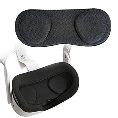 (1 Pack) Orzero VR Lens Protect Cover Dust Proof Cover for Oculus Quest 2, Oculus Quest, Washable Protective Sleeve(Lifetime Replacement)