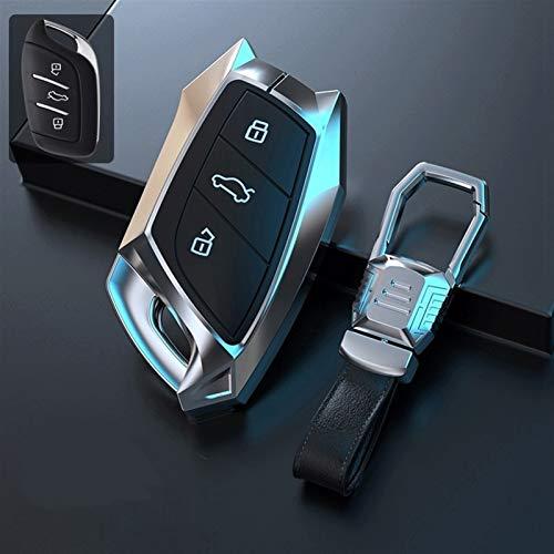 Cubierta de la llave del coche Tenedor de la cubierta de la funda de la aleación de zinc de la aleación del coche para MG ZS EV MG6 EZS HS EHS 2019 2020 para ROEWE RX5 I6 I5 RX3 RX8 ERX5 chaqueta sin