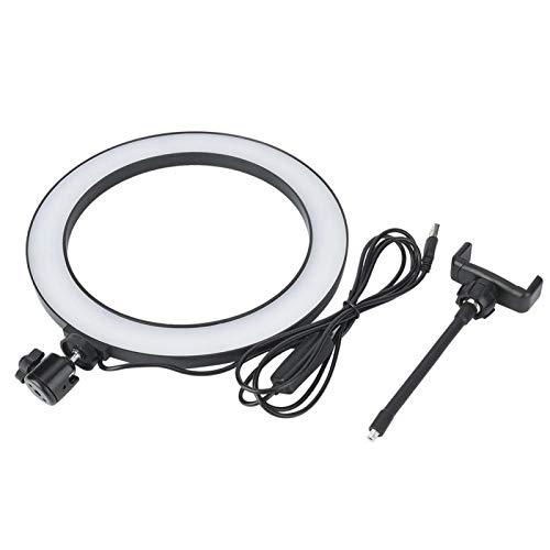 SALALIS Luz de Relleno LED de energía USB Anillo de luz LED para transmisión en Vivo(Plastic)