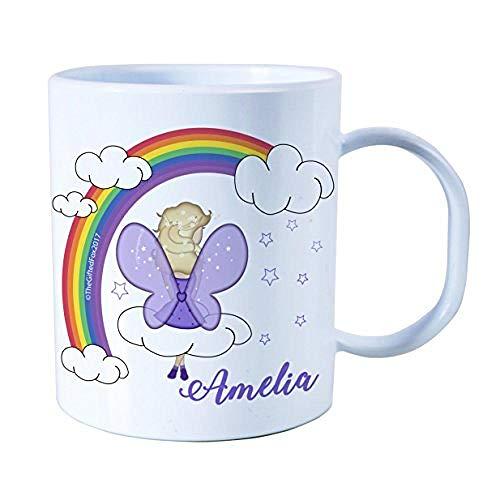 Regalo personalizado Plástico Hada Rainbow Unbreakable Kids Cup Taza para niños pequeños...