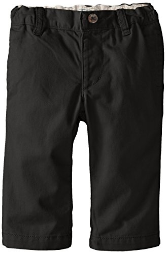 The Children's Place Boys' Baby and Toddler Uniform Chino Pants, Black, 12-18 Months