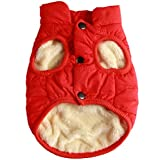 JoyDaog 2 Layers Fleece Lined Warm Dog Jacket for Puppy Winter Cold...