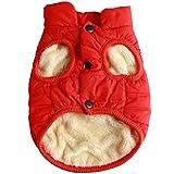 JoyDaog 2 Layers Fleece Lined Warm Dog Jacket for Winter Cold Weather,Soft Windproof Medium Dog Coat,Orange L