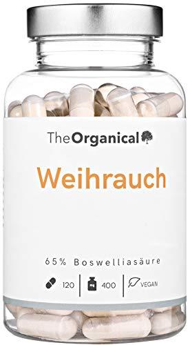 Einführungspreis: Original TheOrganical® Weihrauch Kapseln | 100% natürlicher Extrakt | Volle Wirkung | 120 Kapseln mit 400 mg Weihrauch-Extrakt | WeihrauchkapselnMade in Germany