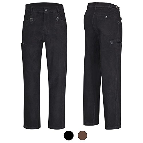 DESERMO® Cord-Arbeitshose Bundhose aus 100% Genua-Cord BW320 - braun Gr. 27