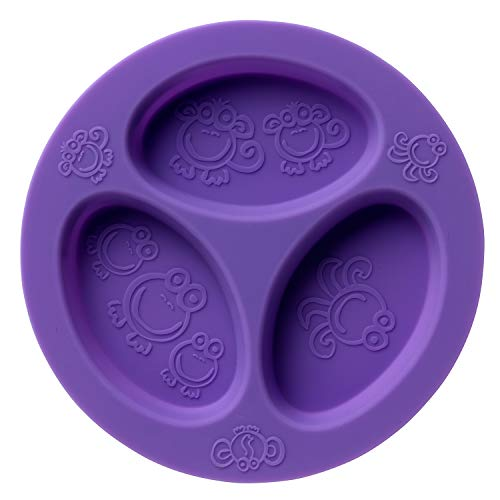 oogaa Silicone Divided Plate Oven Safe Purple