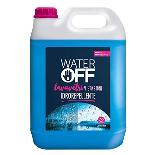 Water Off - 5lt Lavavetri Liquido Detergente Idrorepellente Pronto all Uso, 4 Stagioni per vaschette Auto