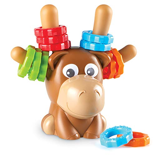 Learning Resources Max The Fine Motor Moose, Fine Motor Toy for Toddlers, Ages 18 mos+, Multi