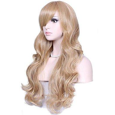Meylee Perruques GHJKU naturelle longue Blonde couleur populaire Wave synthétique perruque pour femme , blonde